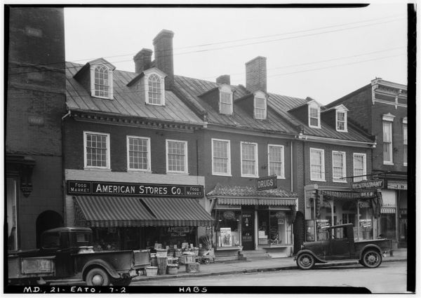 Easton's Washington Street in December 1936.